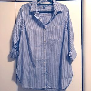 NWT Old Navy Striped Collared Button-up Shirt